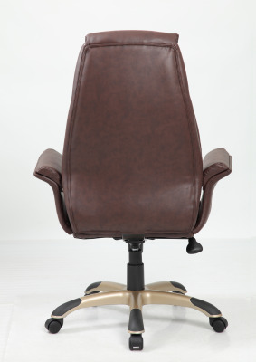 Roberto Brown Leather Executive Chair Rear View