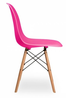 Dsw Chair In Pink Side View