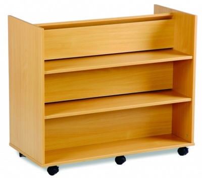 Mobile Book Storage Trolley 1