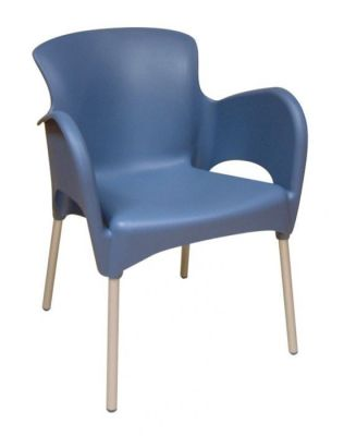 Titan Blue Moulded Design Canteen Chair