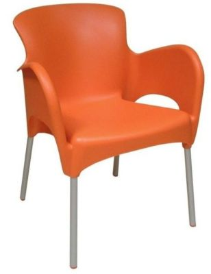 Titan Durable Indoor Or Outdoor Orange Communal Area Chair