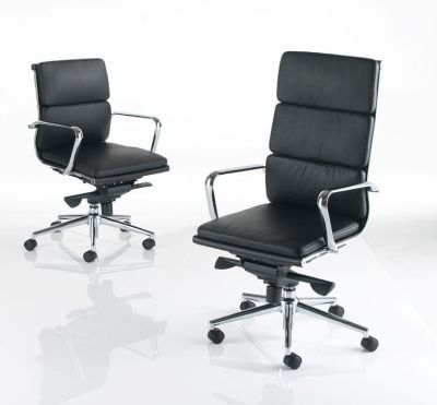 Eames Designer Blacke Executive Chairs Large Back And Mid Back