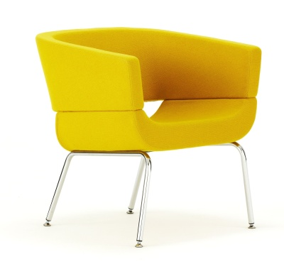 Lola Designer Tub Chair Front Angle