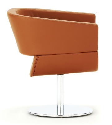 Lola Designer Tub Chair With A Circular Base