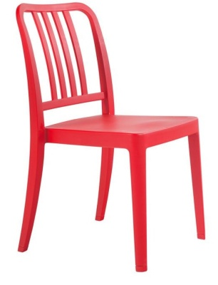 Navy Chair Red