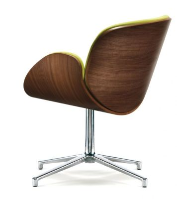 Spirit Designer Tub Chair With A Walnut Back Rear View