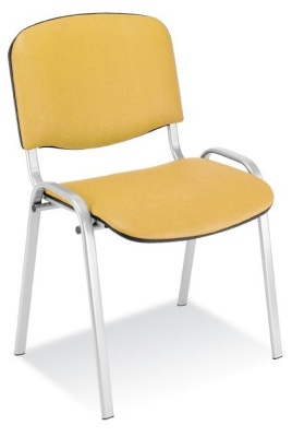 Stakk Chair Yellow Vinyl Alu Frame
