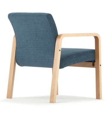 Como Chair With Arms Rear View