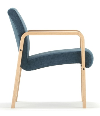 Como Chair With Arms Side View