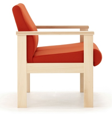 Studio Low Chair With Arms Side View