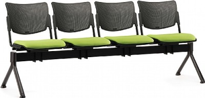 Mia Four Seater Beam With Upholstered Seat