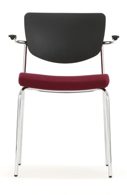 Contour Chair With An Upholstered Seat And Short Arms