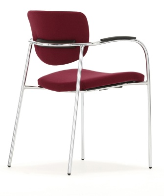 Contour Fully Upholstered Chair With Full Arms Back Angle View