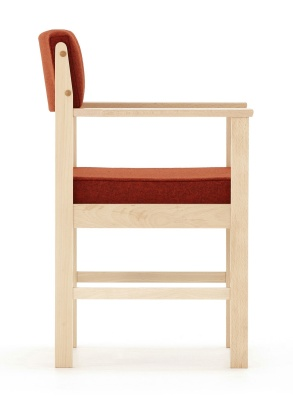 Consort Wooden Framed Armchair Side View