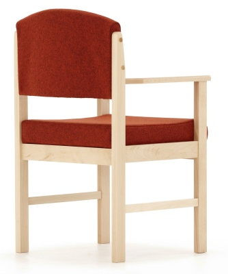 Consort V2 Wooden Armchair Back Angle View