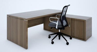 Quando Executive Desk And Cupboard In Wenge