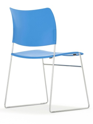 Elios Chair In Blue Back Angle