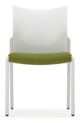 Trillipse Chair Four Leg Silver Frame Upholstered Seat