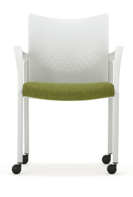 Trillipse Mobile Conference Chair With Arms Front View