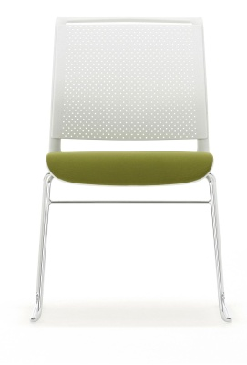 Ad Lib Conference Chair With An Upholstered Seat Front View