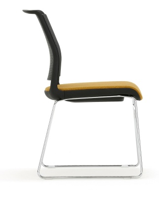 Adlib Chair Black Shell Side View