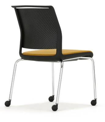 Ad Lib Chair Mobile With An Upholstered Seat Rear View