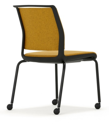 Ad Lib Fully Upholstered Chair Rear View Black Frame