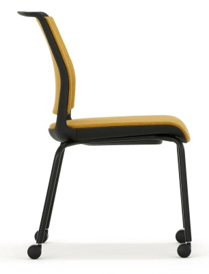 Ad Lib Mobile Conference Chair Fully Upholstered Side View