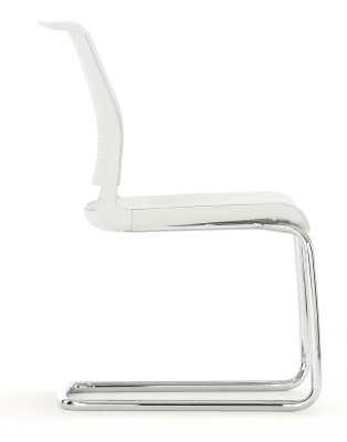 Ad Lib Conference Chair With A Cantilever Frame Side View