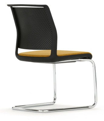 Ad Lib Conference Chair With An Upholstered Seat Rear View