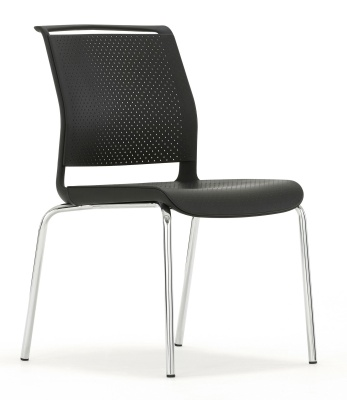 Ad Lib Four Leg Conference Chair Front Angle
