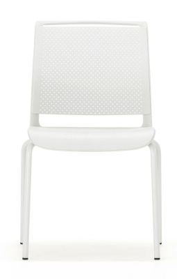 Ad Lib Four Leg Chair Light Grey Frame