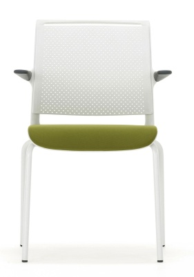 Ad Lib Conference Chair With Arms And An Upholstered Seat Front Face