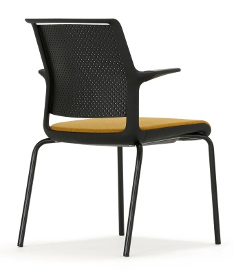 Ad Lib Conference Chair With Arms And An Upholstered Seat Rear View