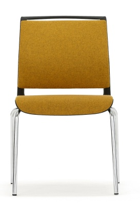 Ad Lib Fully Upholstered Conference Chair Front View