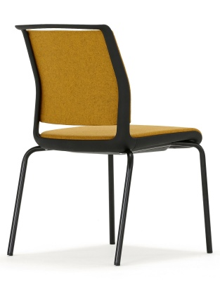 Ad Lib Chair Fully Upholstered With A Black Frame Rear View