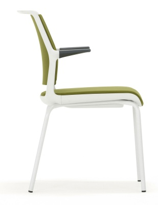 Ad Lib Conference Arm Chair And A Light Grey Frame Side View