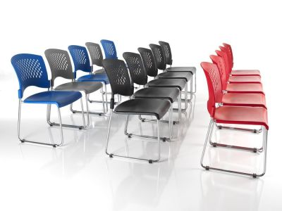 Dotty Meeting Room Chairs In Red,black,blue And Grey