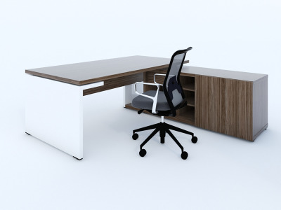 Mito Executive Desk And Credenza