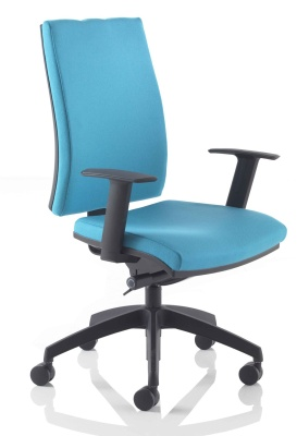 Track Task Chair Sky Blue Fabric