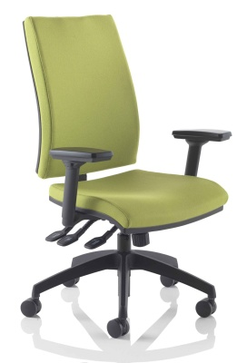 Track Chair With Height Adjustable Arms