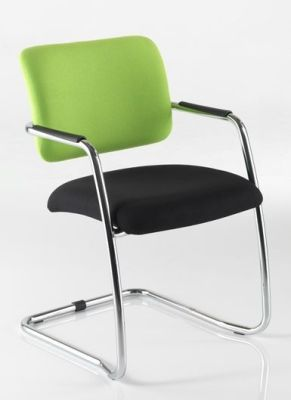 Mitre Cantilever Conference Chair With Chrome Frame And Arm Pads