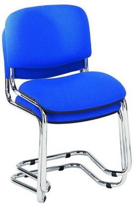 Strador Stack Of Two Blue Chairs With Cantilever Frame