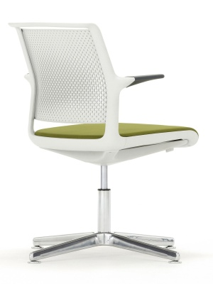 Ad Lib Four Star Conference Arm Chair Back Angle