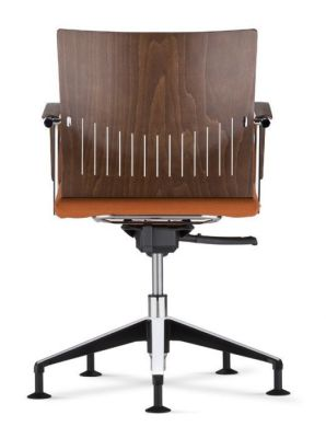 Castella Swivel Conference Chair With An Upholstered Seat Rear View