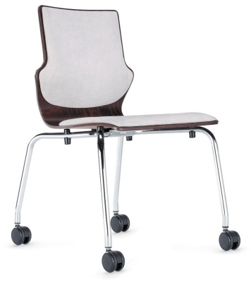 Conversa Mobile Conference Chair With An Upholstered Seat And Back
