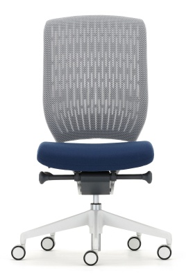 Evolve Task Chair Grey Mesh Light Grey Componenets