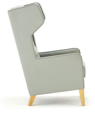 Grainger Luxury Wingback Chair Side View