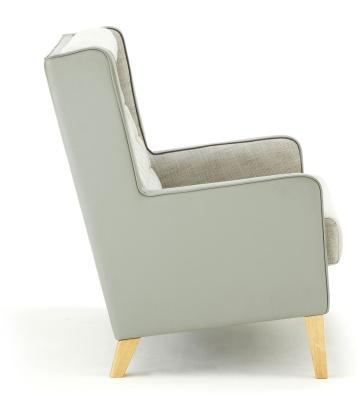 Grainger Luxury Wing Back Sofa Side Shot