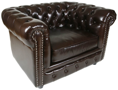 Chester Single Seater Leather Sofa